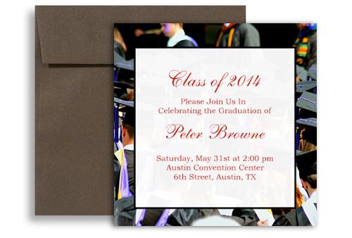 2018 print your own graduation invitation design 5x5 in square gi