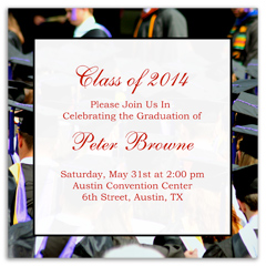 Print Your Own Graduation Invitation Design