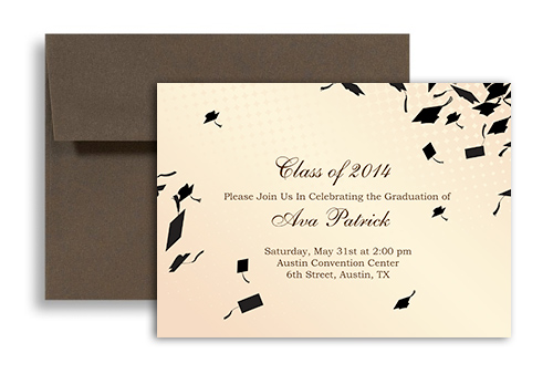 2017 Cream Beige Printable Graduation Invitation Example 7x5 in – Printable Graduation Invitation Templates