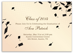 Cream Beige Printable Graduation Invitation Example