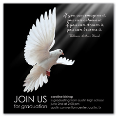 Peace Dove Spirit Graduation Invitation Example