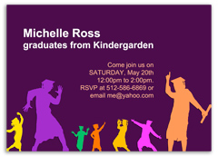 Preschool Kindergarten Graduation Invitation Example