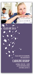 2016 Photo Cap Gown Flying Graduation Invite