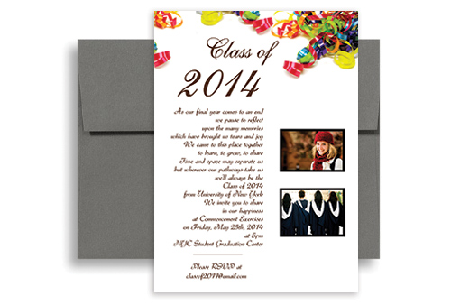 2017 High School Photo Graduation Party Invitation 5x7 in – 2015 Graduation Party Invitations