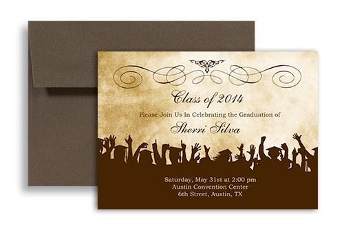 2017 Online Printable Graduation Party Invitation 7X5 In