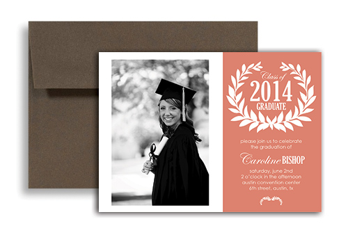 2018 Photos Templates Graduation Party Invitation 7x5 in Horizontal