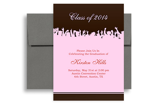 2018 pink brown senior graduation party invitation 5x7 in vertical 2018 pink brown senior graduation party invitation 5x7 in vertical filmwisefo