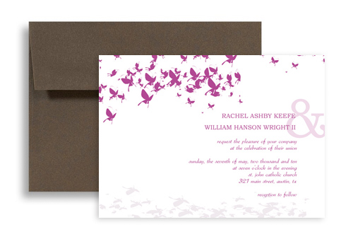 Kit Wedding Invitation Announcement 7x5 in. Horizontal | WI-1047 ...