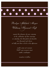Design Your Own Polka Dots Microsoft Wedding Invite