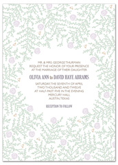 Winter White Roses Design Microsoft Wedding Invite