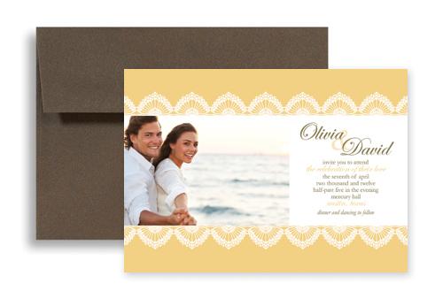 Yellow customizable photo microsoft wedding invite 7x5 in yellow customizable photo microsoft wedding invite 7x5 in horizontal stopboris Images