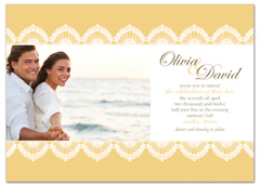 Yellow Customizable Photo Microsoft Wedding Invite