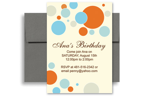 Bright Colorful Kids Microsoft Word Birthday Invitation 5x7 in