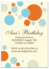 Bright Colorful Kids Microsoft Word Birthday Invitation