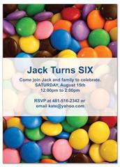 Children Candy Party Microsoft Word Birthday Invitation  Microsoft Word Birthday Invitation Templates