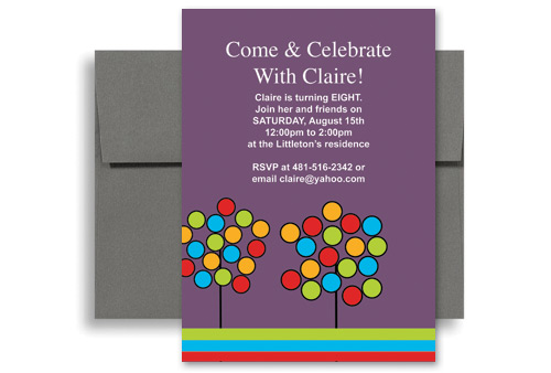 Create Your Own Microsoft Word Birthday Invitation 5x7 in. Vertical