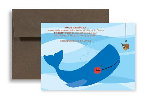 Fish Beach Swimming Microsoft Word Birthday Invitation 7x5 in – Microsoft Word Birthday Invitation Template