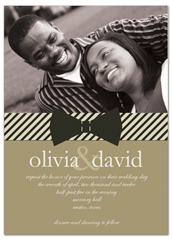 Cream Brown Microsoft Word Wedding Invitation