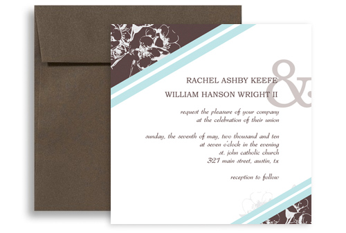 Engagement Party Microsoft Word Wedding Invitation 5x5 in Square