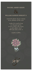 Floral Bouquet Theme Microsoft Word Wedding Invitation