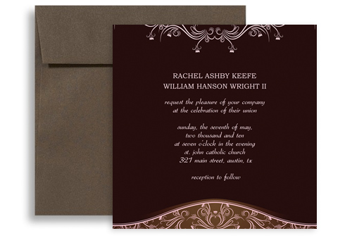 hindu indian template microsoft word wedding invitation 5x5 in, Wedding invitations