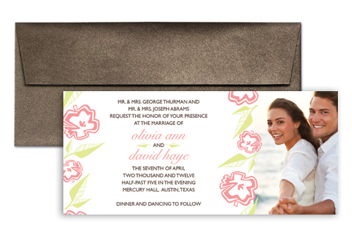 Photo Template Microsoft Word Wedding Invitation 9x4 in