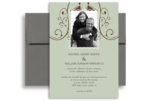 Wedding Anniversary Microsoft Word Invitation 5x7 in. Vertical  WI-1068  DesignBetty