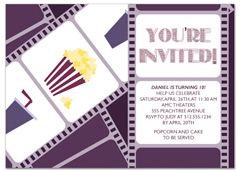 Download kids boy girl printable ms word birthday invitation movie popcorn candy personalized birthday invitation filmwisefo