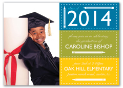 Pre School Grade Personalized Graduation Invitation