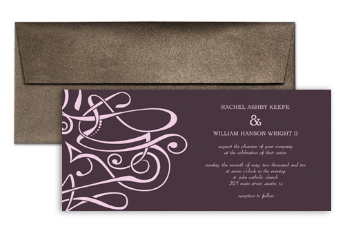 How To Make My Own Clipart Personalized Wedding Invitation 9x4 In.  Horizontal
