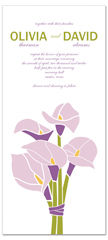 Lavender Lilies Personalized Wedding Invitation