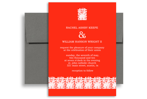 Modern Asian Chinese Personalized Wedding Invitation 5x7 in – Chinese Wedding Invitation Cards