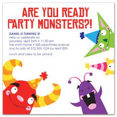 Download Kids Boy Girl Printable MS Word Birthday Invitation ... Kids Party Monster Printable Birthday Invitation