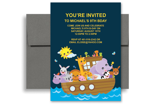 Kids Water Boat Ride Party Printable Birthday Invitation X In - 5x7 birthday invitation template