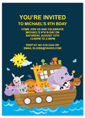 Kids Water Boat Ride Party Printable Birthday Invitation