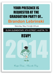 Boy Party Printable Graduation Announcement