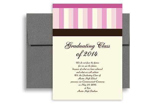 2019 Brown Pink Cream Printable Graduation Announcement 5x7 In