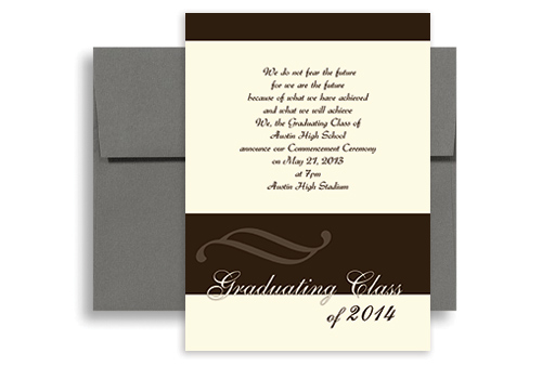 picture regarding Printable Graduation Announcements called 2019 Substantial College Faculty Printable Commencement Announcement