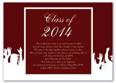 Red White Printable Graduation Invitation