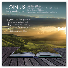 Sunset Outdoor Nature Printable Graduation Invitation