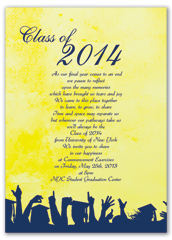 Wording University Printable Graduation Invitation