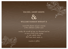 Bells Pattern Design Printable Wedding Invitation