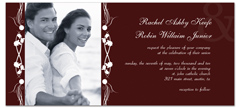Elegant Frame Photo Printable Wedding Invitation