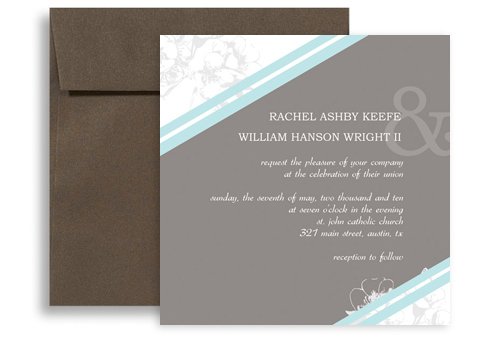 Blank Printable Template Wedding Announcement Samples 5X5 In