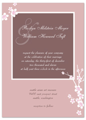 Cheap Print At Home Pink Wedding Announcement Samples