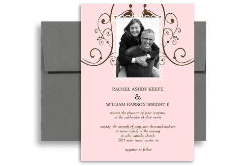 Downloadable File Template Wedding Announcement Samples 5X7 In