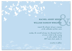 Make Baby Blue Butterflies Wedding Announcement Samples