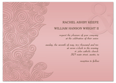 Modern Elegant Pink Wedding Announcement Samples