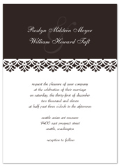 Border Ribbon Layout Wedding Invitation Design
