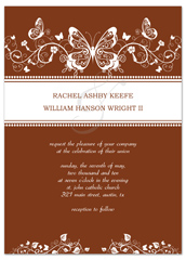 Butterfly Formal Wedding Invitation Design